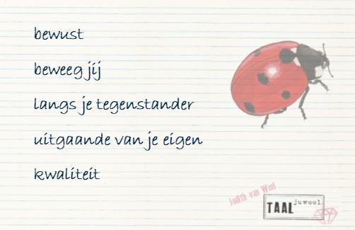 Gedicht zelfvertrouwen_lieveheersbeestje_taaljuweel