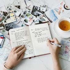 Foto schrijven en thee